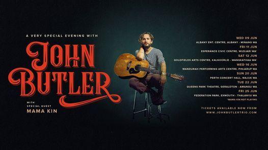 SOLD OUT ! An Evening With John Butler - Perth Concert Hall - Wajuk WA