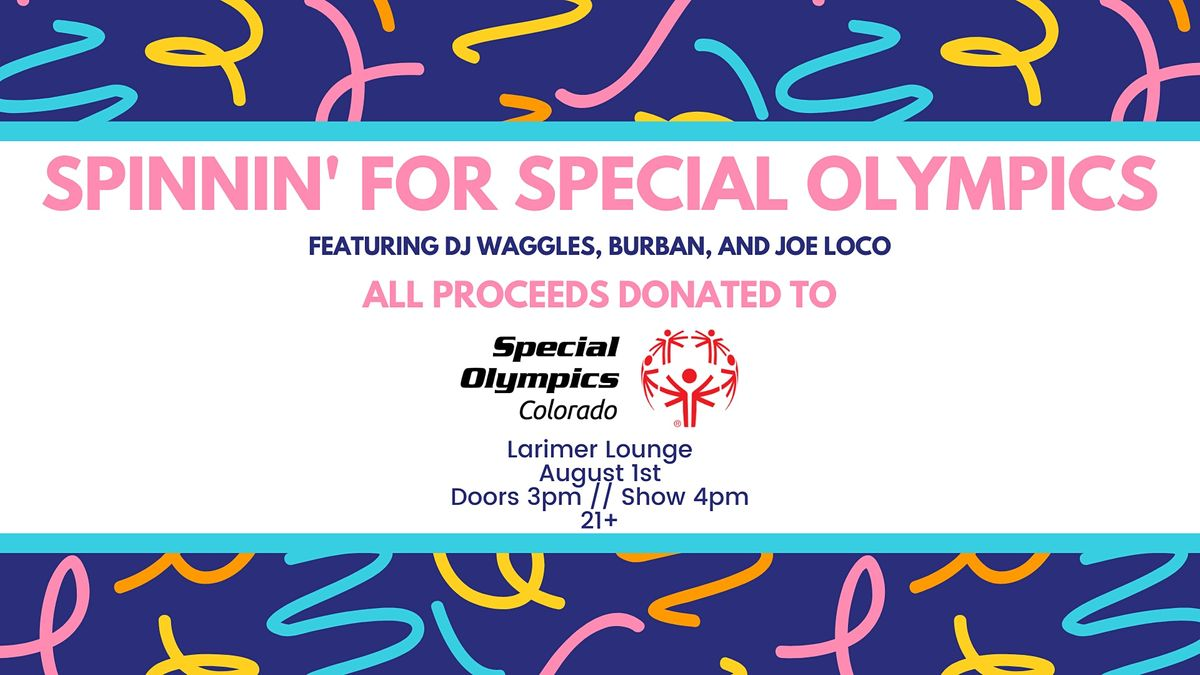 Spinnin' for Special Olympics: DJ Waggles x Burban