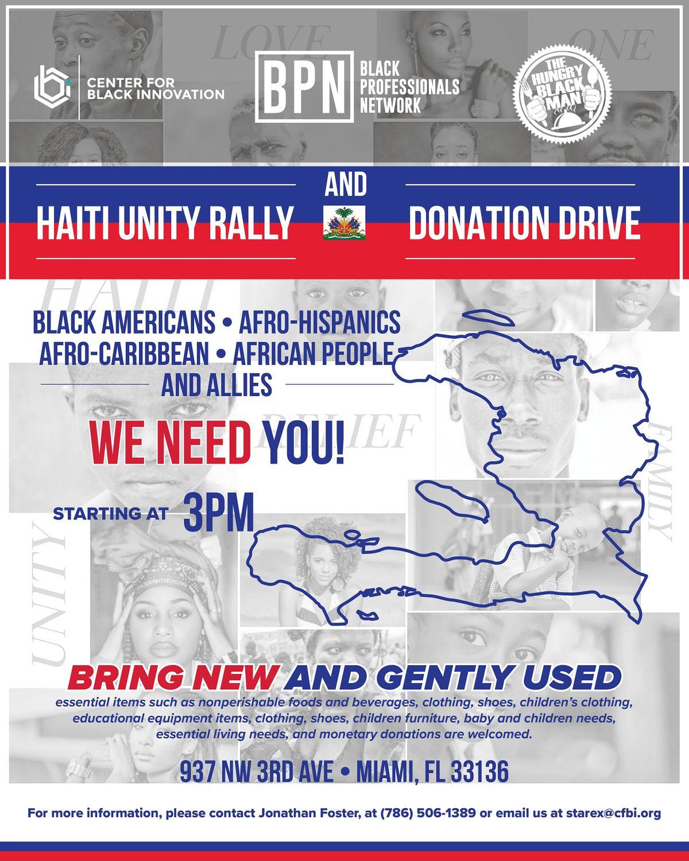 Haitian Unity Rally & Donation Drive