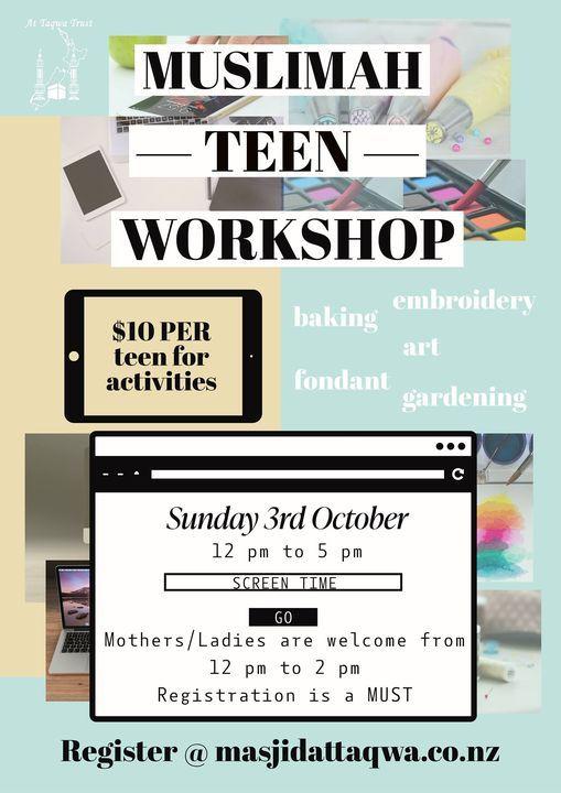 Muslimah Teen Workshop - Screen Time