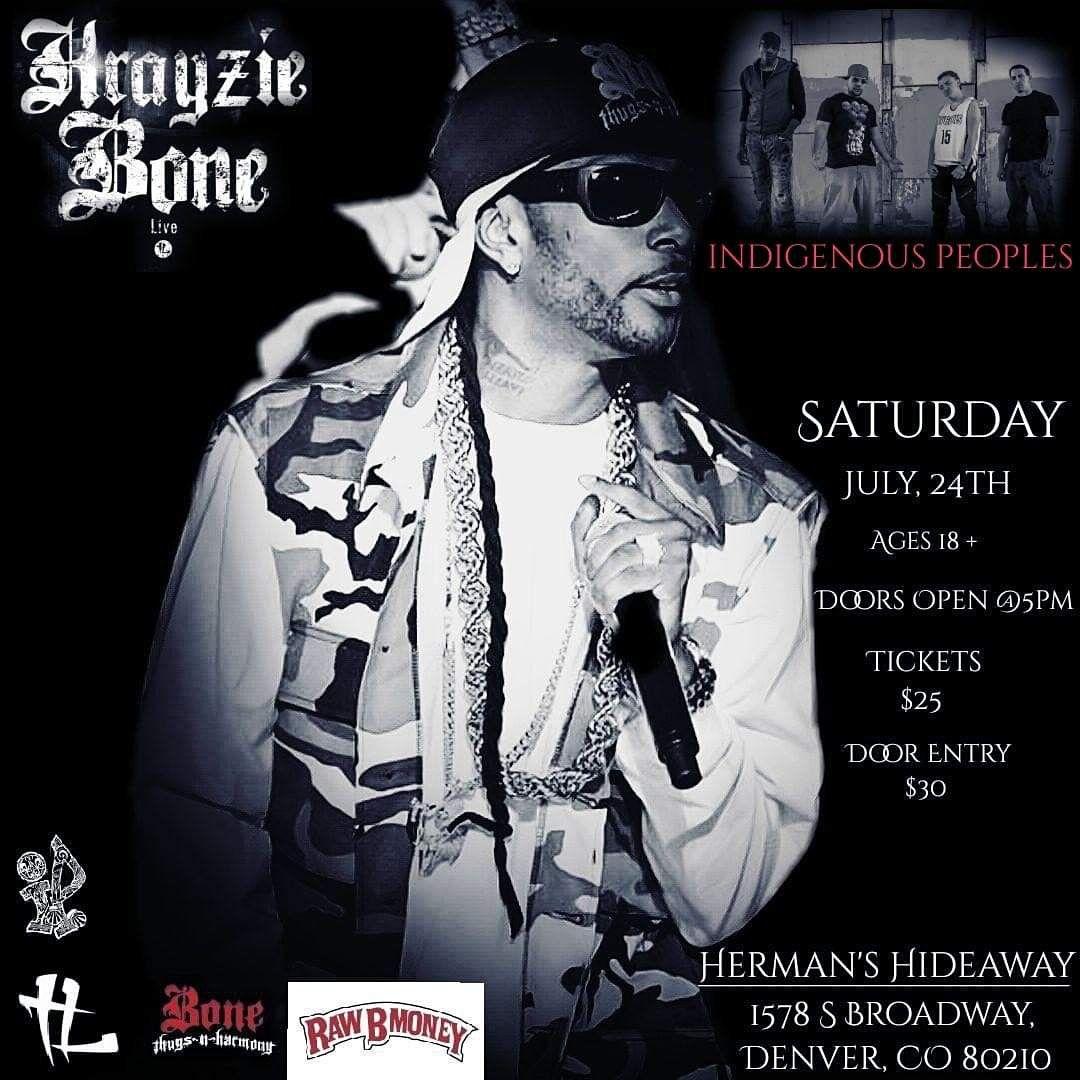 Krayzie Bone Of Bone Thugs N Harmony. Live In Denv