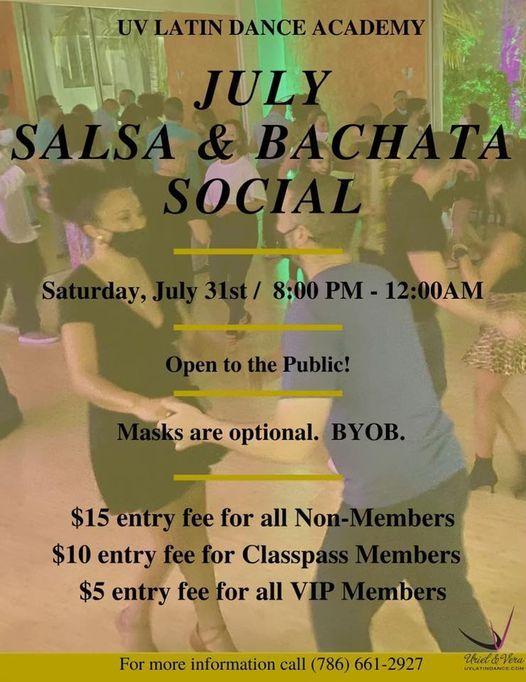 The UV July Salsa & Bachata Social