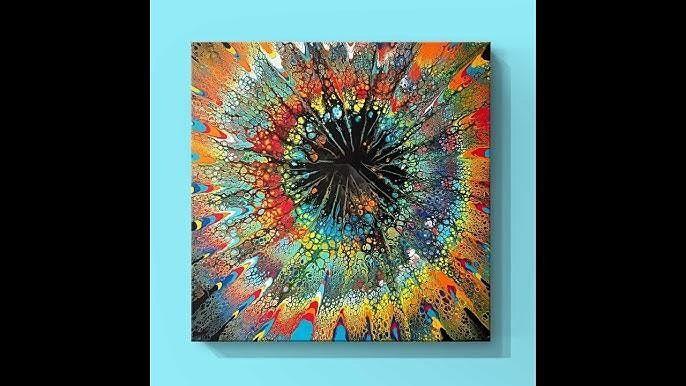 Starburst - Acrylic Pour Painting Class