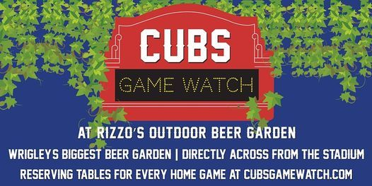 August Cubs Game Watch at Rizzo's Outdoor Beer Garden