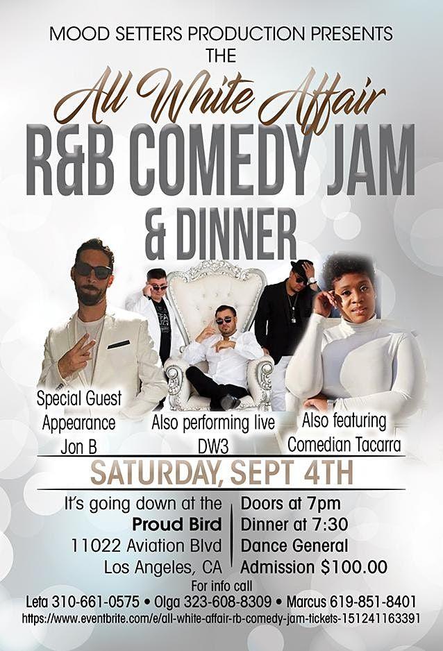 ALL WHITE AFFAIR R&B COMEDY JAM