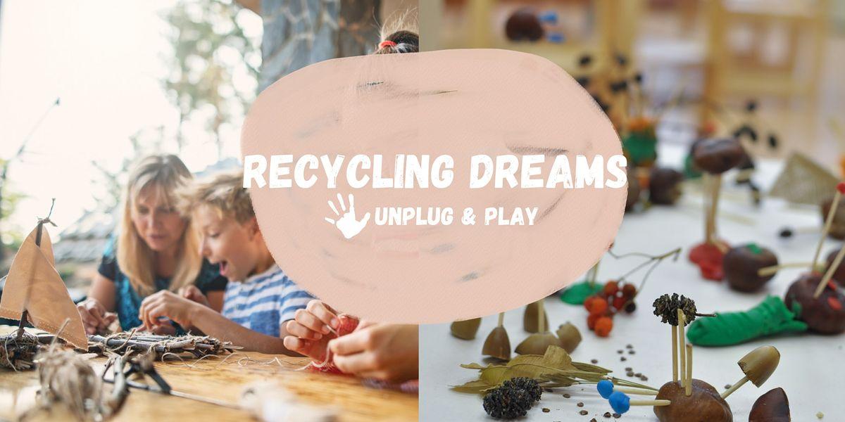 Unplug & Play -Friday Art Adventures: Re-cycling Dreamcatchers